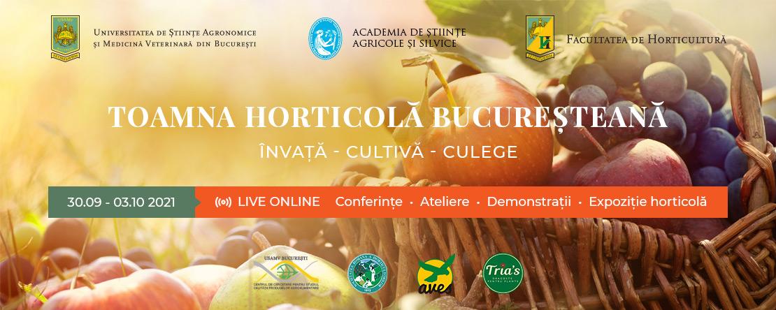 Toamna Horticolă Bucureșteană -  30 septembrie – 3 octombrie 2021